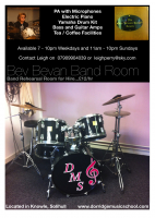 Bev Bevan Band Room to Hire