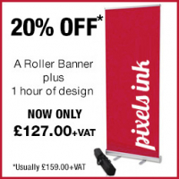 20% off Roller Banners + Design Time