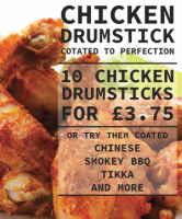 10 Deliciously coated Chicken Drumsticks for only £3.75