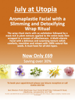 Aromaplastie Facial with a Slimming and Detoxifying Wrap Ritual just £69