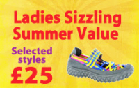 Ladies Shoes and Sandals Selected Styles only £25