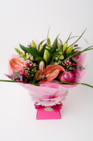 25 % Off Hand Tied Aqua Flower Arrangements