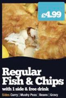Regular fish and chips only £4.99