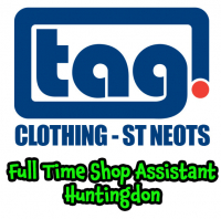 Full Time Shop Assistant - Tag Clothing Huntingdon