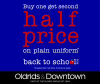 Buy One, get second Half Price