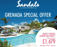 SANDALS LASOURCE GRENADA FROM ONLY £1,479PP