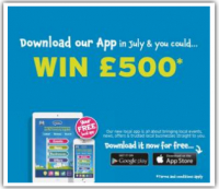 The Chance to Win* £500 if you Download our New Shopping App