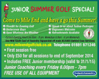 Junior Summer Golf Special
