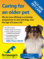 SAVE over £50 on care for your older pet.