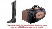 Free Ariat Bag when you buy a pair of Ariat Heritage Contour Boots