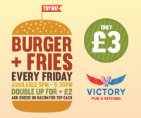 Burger & Fries only £3 every Friday!