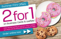 2 for 1 on Business Cards & Leaflets