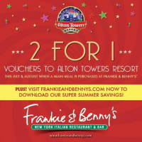 2 for 1 Vouchers For Alton Towers*