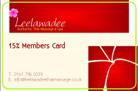 SAVE 15% ON ALL TREATMENTS WITH A LEELAWADEE DISCOUNT CARD