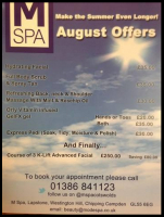 MSpa August offers