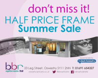 Half Price Frames Summer Sale at BBR