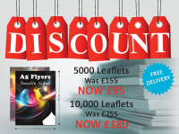 Fabulous offer: 5,000 A5 leaflets for just £95!