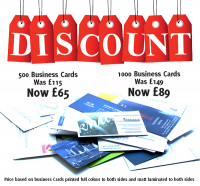 £65 for 500 Business Cards!