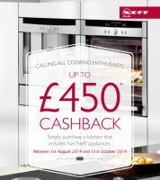 £450 Cashback When You Order Neff Kitchen Appliances