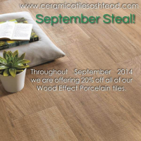 September Steal – 20% OFF all Wood Effect Porcelain  Tiles at Ceramica @ceramicatiles
