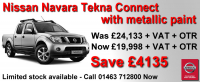 Nissan Navara Tekna - Metallic Paint- SAVE £4,135!