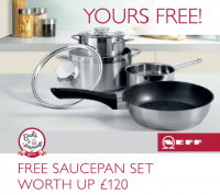 FREE Saucepan Set Worth up to £120 - Details here