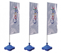 FULL COLOUR PROMO FLAG, POLE & BASE FOR £79.50