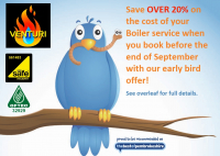 Save Over 20% on your Boiler service with Venturi Plumbing and Heating