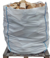 Woody's Seasoned Logs ONLY £80 for 1.2 m3 Bulk Bag + FREE delivery + FREE Heatlogs worth over £30