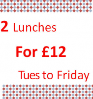 2 for £12 Lunches