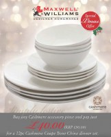 12pc Bone China Dinner Set just £40