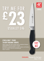 Zwilling 10cm Paring Knife Half Price.