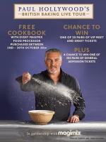 Win tickets to see Paul Hollywood 'Live'