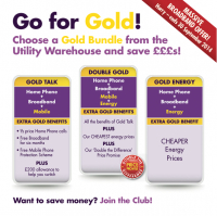 *** Massive Broadband offer! Hurry - ends September 30, 2014. Double Gold and Gold Talk customers can benefit from FREE Broadband for 9 months. Gold Energy customers can benefit from FREE Broadband for 6 months. ***