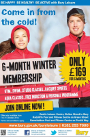 SIX MONTH WINTER MEMBERSHIP WITH BURY LEISURE JUST £169!