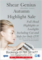 Ful head highlights or lowlights, cut and style for £55