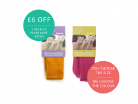2 Pairs of Plain goat socks for only £19.00!
