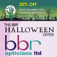 Say Boo! & get 20% Off New Spectacles at BBR Opticians
