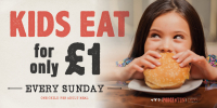 Kids Eat for only £1 on Sundays