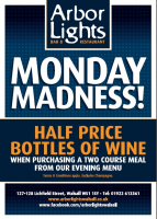 MONDAY MADNESS - HALF PRICE BOTTLES OF WINE