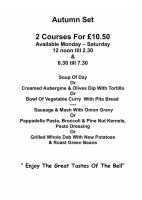 2 courses for £10.50