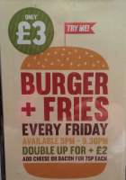 BURGER AND FRIES JUST £3.00 EVERY FRIDAY AT THE VILLAGE HOTEL