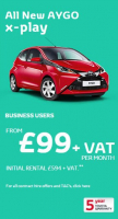 EXCLUSIVE TO BUSINESS - AYGO X-PLAY FROM £99 PCM