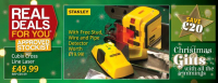 Save on Stanley Cubix Crossline Laser with FREE Stud detector at Towy Works