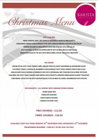 CHRISTMAS LUNCH MENU FROM £12.95 FOR TWO COURSES