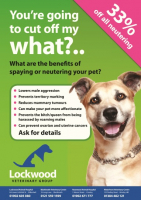 33% OFF all Pet neutering at St Georges Vets in Telford