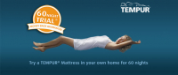 Try a Tempur mattress in your home for 60 days