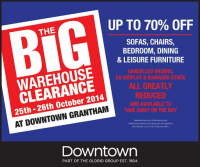 Big Warehouse Sale - up to 70% off- 25th/26th Oct