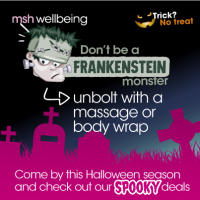 Halloween Special - 50% Discount on an aromatherapy massage...