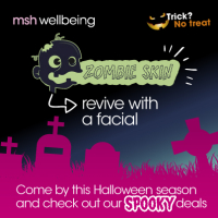 Zombie like skin? Revive your pores with 50% off a Halloween Special facial...